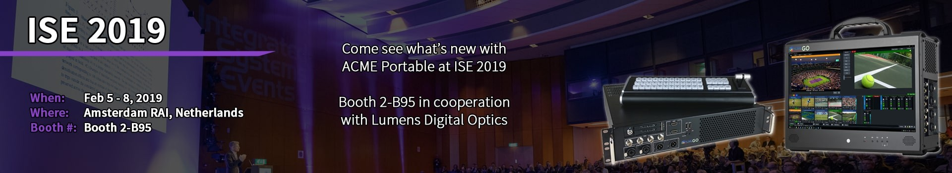 ISE 2019 Banner