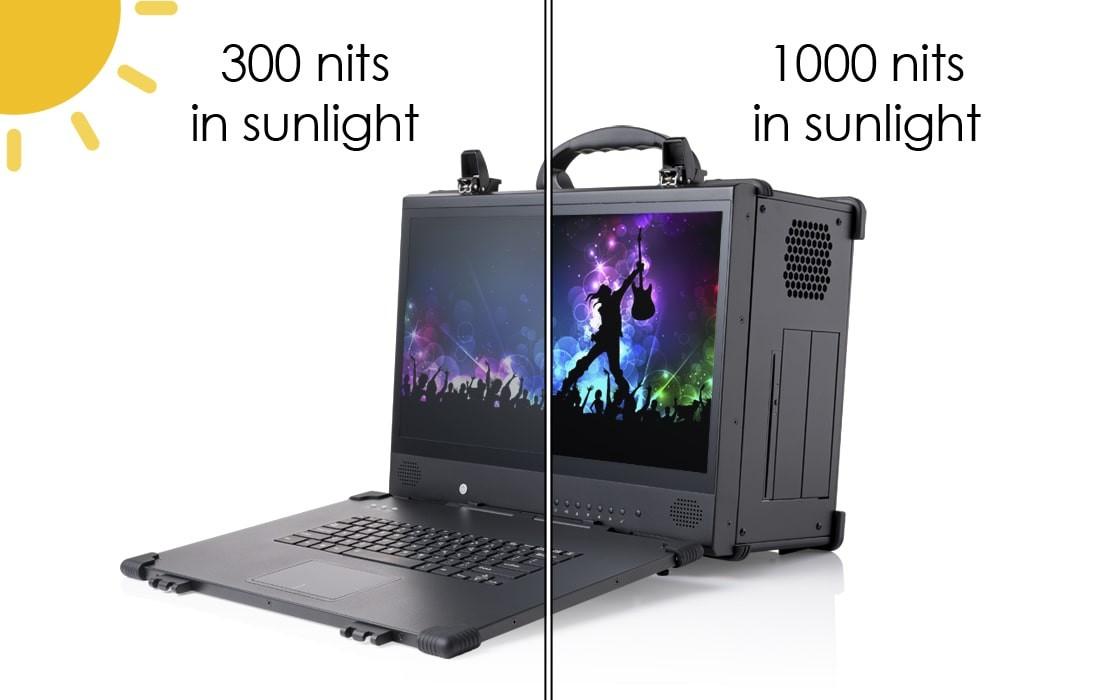 High brightness display